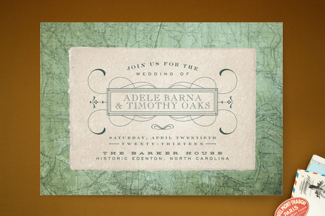 Tea and Topo Wedding Invitations