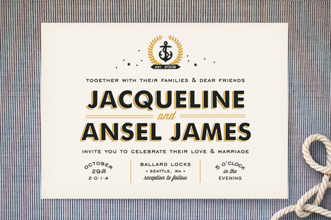 Ballard Nautical Wedding Invitations