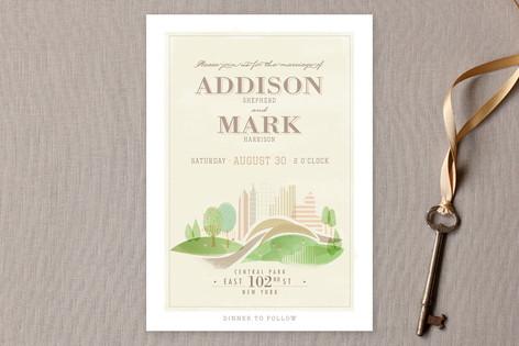 Central Park Wedding Invitations