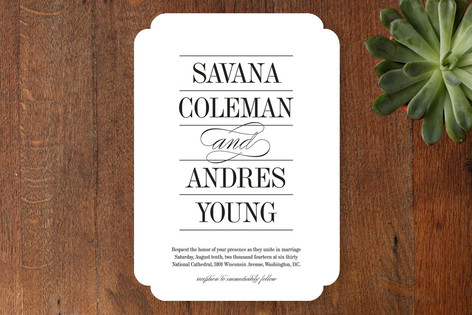 Classically Stacked Wedding Invitations