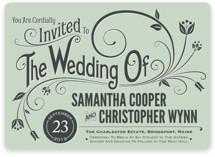 Vintage Blush Wedding Invitations