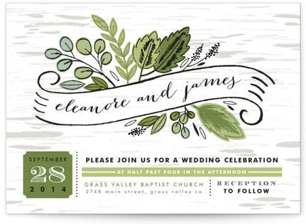 Birch Bark Woods Wedding Invitations