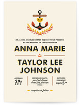 Nautical Campy Love Wedding Invitations