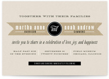 Kraft Label Wedding Invitations