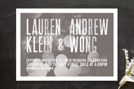 Bokeh Bride Wedding Invitations
