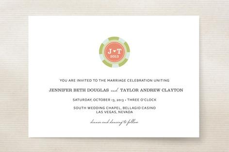 Vegas or Bust Wedding Invitations