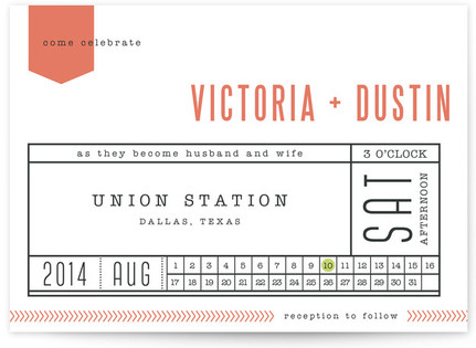 Ticket to Love Wedding Invitations