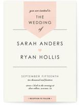Linen Stitch Wedding Invitations
