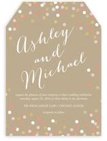 Golden Glittering Confetti Wedding Invitations