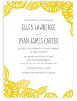 Bold Block Print Wedding Invitations