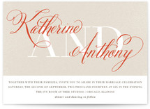 Scripted Wedding Invitations
