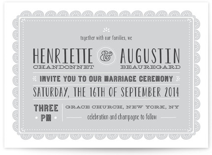Eyelet Wedding Invitations