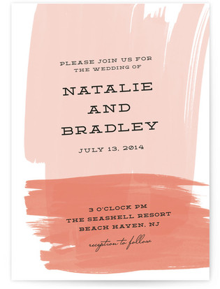 Bold Brushstrokes Wedding Invitations