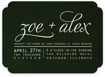 Chocolate Matrimony Wedding Invitations