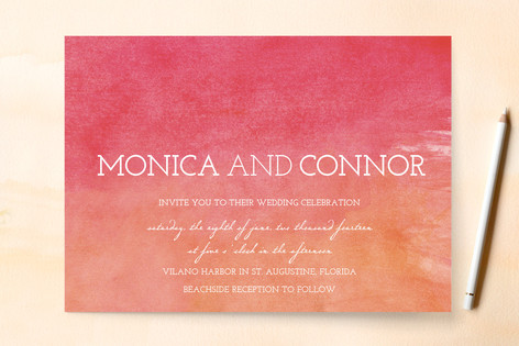Watercolor Sky Wedding Invitations