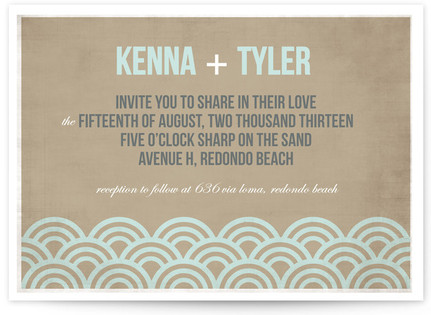 Beach Bums Wedding Invitations