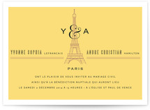 Classic Eiffel Tower Wedding Invitations