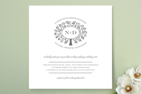 Wedding Boughs Wedding Invitations