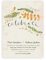 Leaf Specimen Wedding Invitations