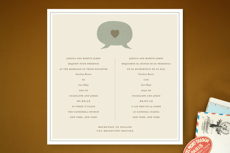 Language of Love Wedding Invitations