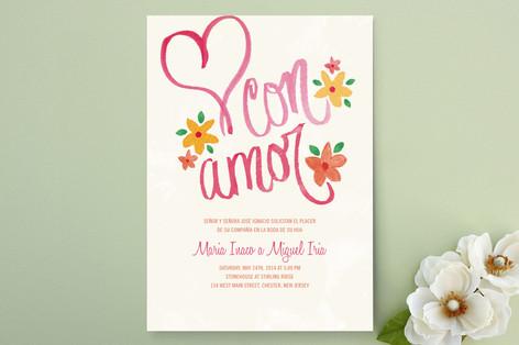 Con Amor Hand Painted Wedding Invitations