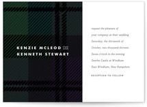 Black Watch Wedding Invitations