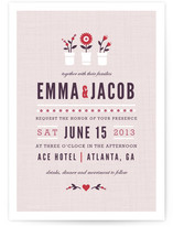 Flower Vases Wedding Invitations