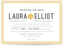 Dot and Cross Wedding Invitations