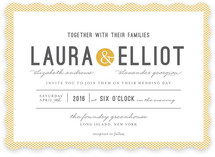 Dot and Cross Wedding Invitations