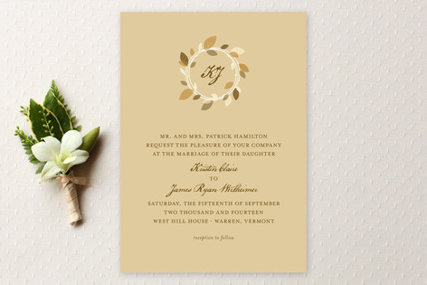 Autumn Wreath Wedding Invitations