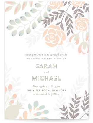 Flower Burst Wedding Invitations