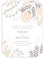 Flower Burst Wedding Invitations