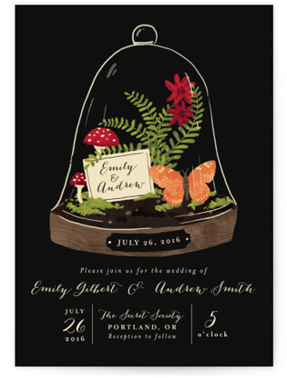 Bell Jar Wedding Invitations
