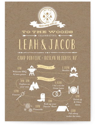 Camp Love Wedding Invitations