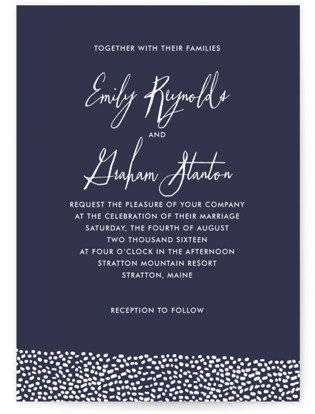 Sprinkled Love Wedding Invitations