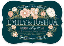 Country Florals Wedding Invitations
