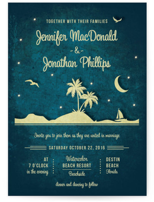 Love Island Wedding Invitations