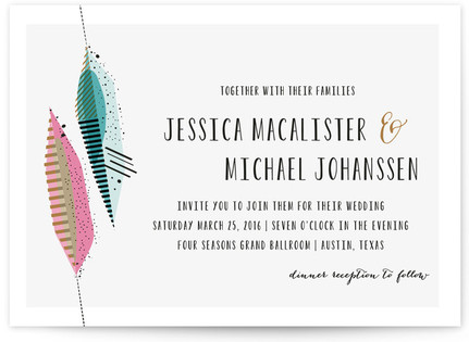 Art Quill Wedding Invitations