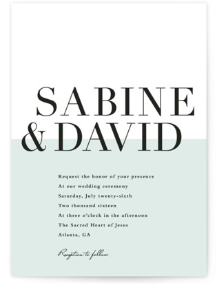 So Fresh Wedding Invitations