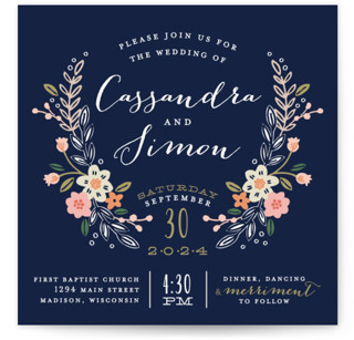 Wildflower Crest Wedding Invitations