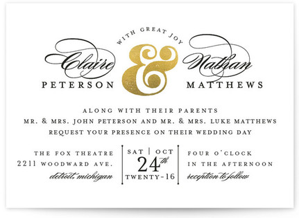 Dapper Amper Wedding Invitations