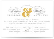 Dapper Amper Wedding Invitations