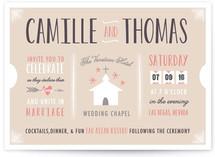 The Winning Ticket Wedding Invitations