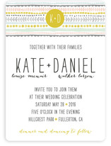 Whimsy Stripe Wedding Invitations