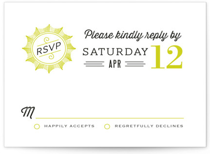 Cadillac Wedding Invitations