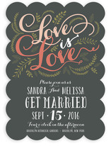 Three Words Wedding Invitations