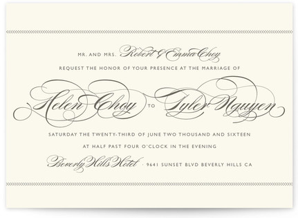 Poised Wedding Invitations