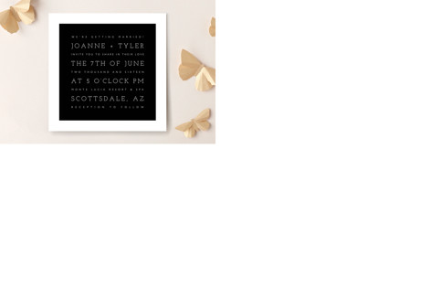 Hip To Be Square Wedding Invitations
