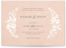 Sun Bleached Florals Wedding Invitations