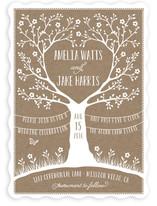 Kraft Woodland Tree Wedding Invitations